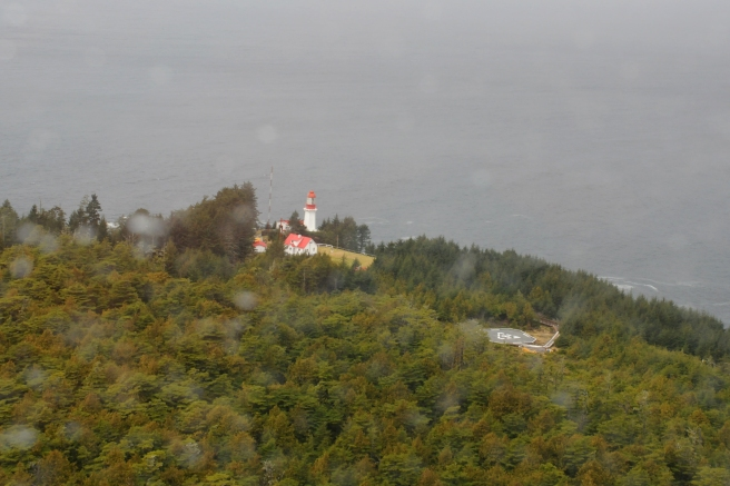 Langara lightstation from the air